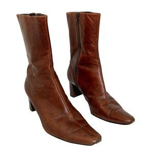 Nine West Brown Leather Ankle boot SZ 6